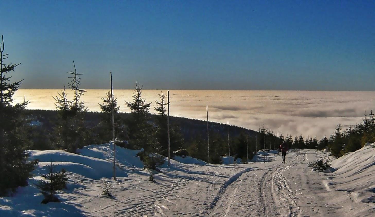 Zimowe bieganie po Karkonoszach