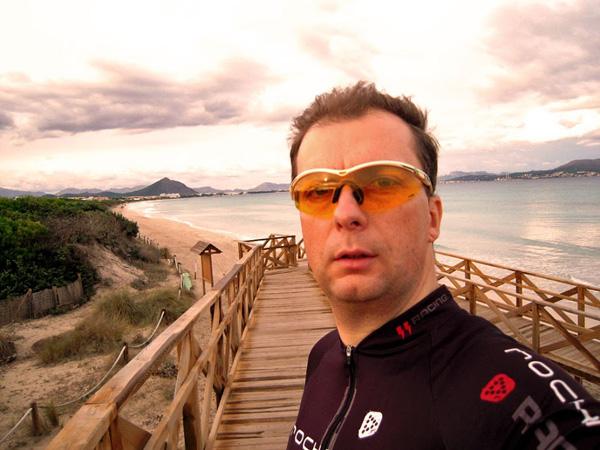 Majorka na rowerze
