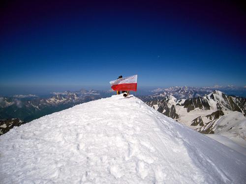 Na szczycie Kazbek 5033 m