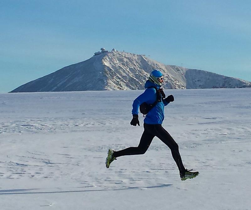 Kruszenie karkonoskiego lodu butami biegowymi